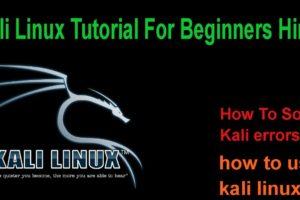 kali linux tutorials for beginners / kali linux tutorials 2018 in hindi 9