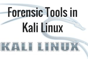 Introduction to Kali Linux- Forensic Tools in Kali Linux 10
