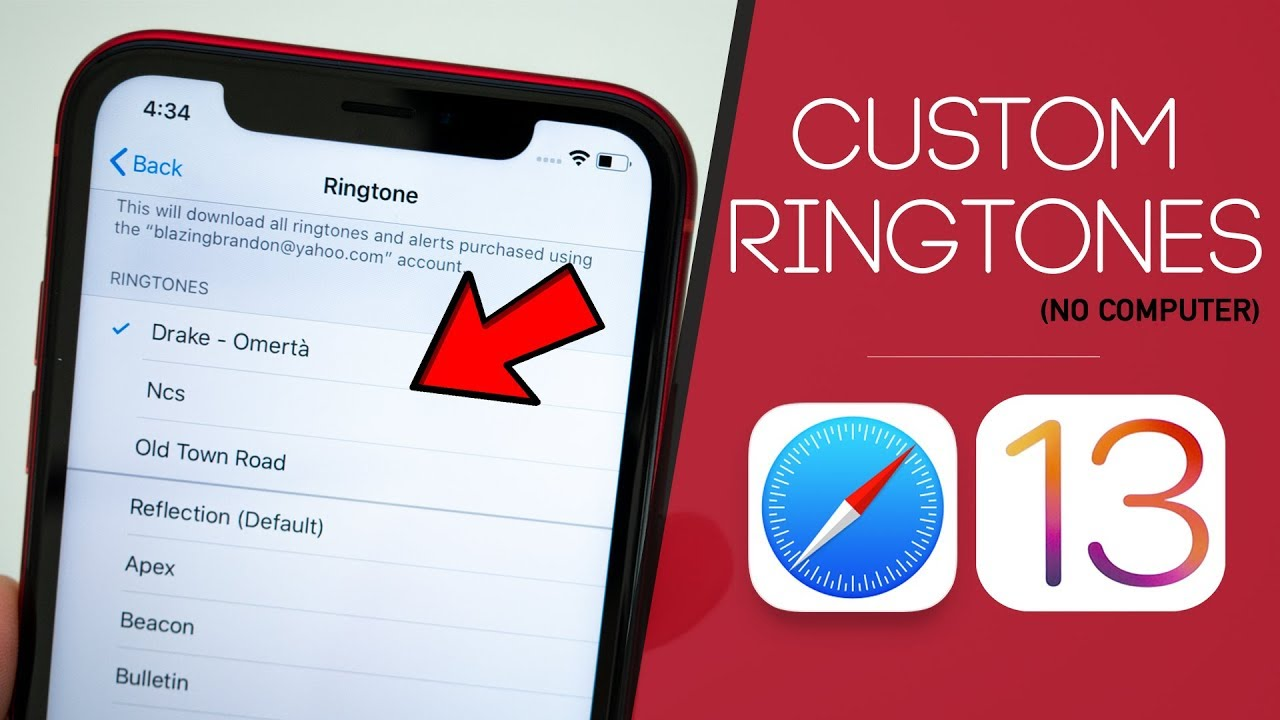 iOS 13 - How to Set ANY Song as RINGTONE on iPhone (No ...